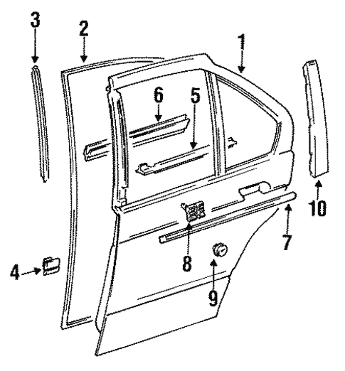 Door Components For 1997 Bmw M3