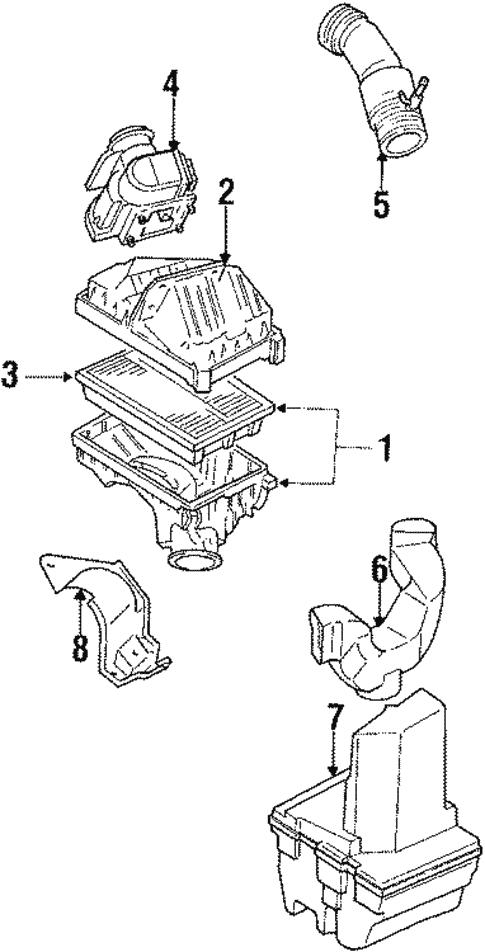 air intake for 1988 toyota corolla | toyota parts center  olathe toyota parts center