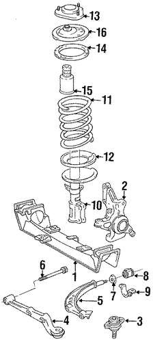 FRONT SUSPENSION/SUSPENSION COMPONENTS for 1996 Toyota Previa #4