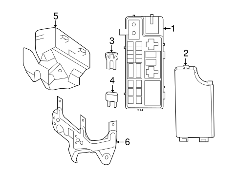 2014 Jeep Compass Fuse Box