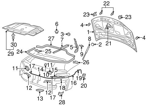 Hood Components For 2004 Audi A8 Quattro Suburban Auto Parts
