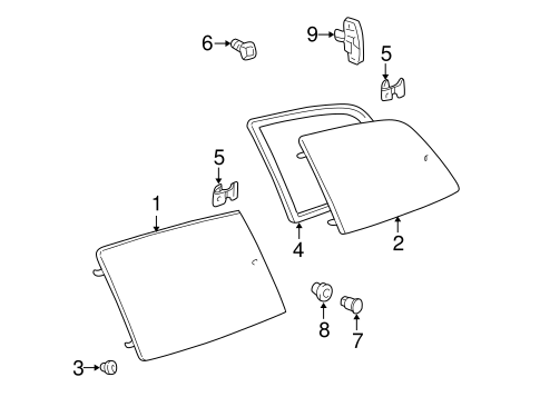 BODY/GLASS - SIDE PANEL for 1998 Toyota Sienna #1