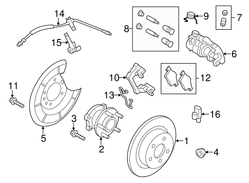 Brakes/Rear Brakes for 2013 Ford Escape #1