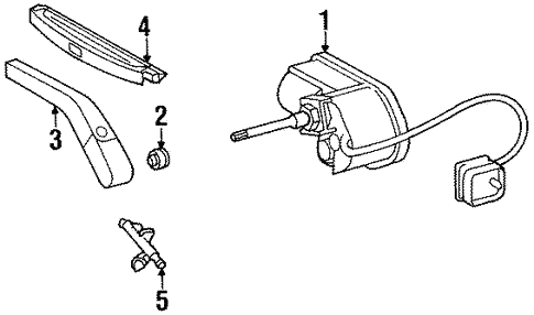 Wiper Components for 1995 Mercedes-Benz E 320 #0