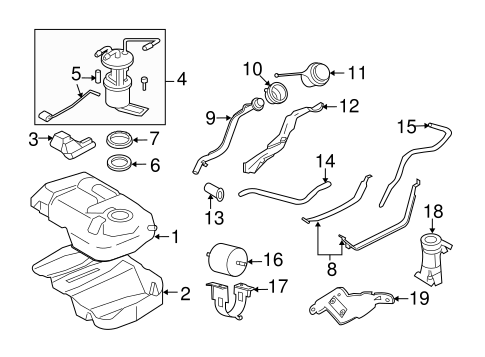 Fuel System Components For 2008 Mercury Mariner