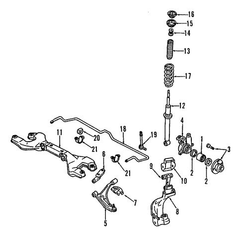 1996 Infiniti G20 Engine Diagram