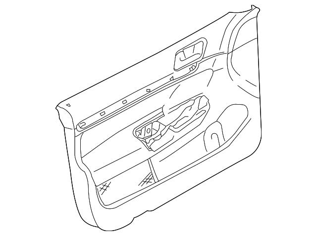 door trim panel - volkswagen (1k4-867-012-mf-ccv)