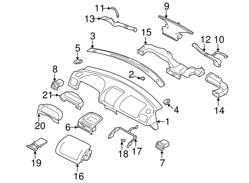 Instrument Panel For 2001 Subaru Forester