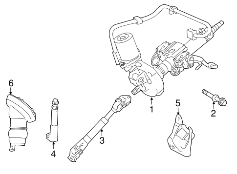 Steering Column Assembly For 2011 Lexus Ct200h