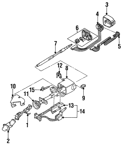 Steering Column For 1989 Pontiac Grand Prix