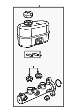 Brake Master Cylinder Upper Mopar 68144664AB fits 2018 Ram 2500