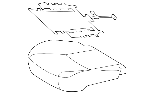 Toyota Genuine 71072-35410-C0 Seat Cushion Cover
