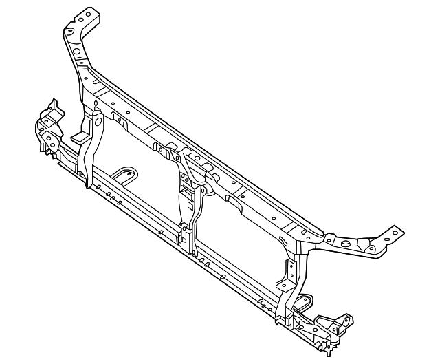 Radiator Support Nissan 62500 Ea030 Tascaparts