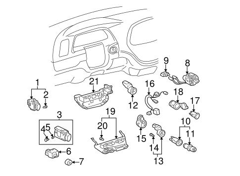 Genuine Oem Controls Parts For 2004 Toyota Tundra Sr5