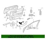 Pull Handle - Mercedes-Benz (203-810-08-51-7241)
