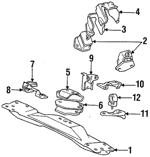 engine & trans mounting for 1989 dodge ram 50 #0