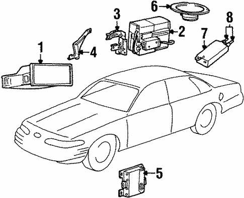 Body/Sound System for 2002 Ford Crown Victoria #1