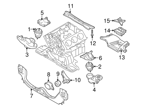 Engine & Trans Mounting for 2005 Audi A6 Quattro | Genuine Audi Parts | Audi A6 Quattro Engine Diagram |  | Genuine Audi Parts and Accessories