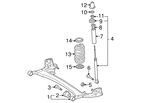 REAR SUSPENSION/REAR SUSPENSION for 2011 Toyota Yaris #1