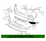 Right (Passenger) Lower Bumper Garnish ( PLEASE ENTER VIN NUMBER ) - Honda (71102-TG7-A00)