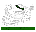 Absorber, Front Bumper - Acura (71170-TY2-A00)
