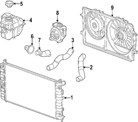 oem 2006 chevrolet malibu cooling system parts. Black Bedroom Furniture Sets. Home Design Ideas