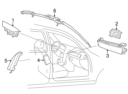Air Bag Components For 2013 Hyundai Azera