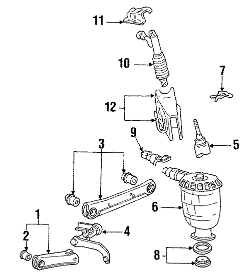 Rear Suspension For 1998 Lincoln Town Car Haag Ford Parts