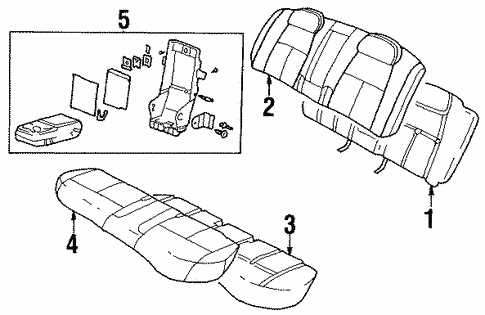 rear seat components for 2001 oldsmobile aurora #0