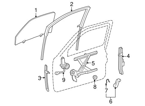 ELECTRICAL/FRONT DOOR for 2007 Toyota Tacoma #3