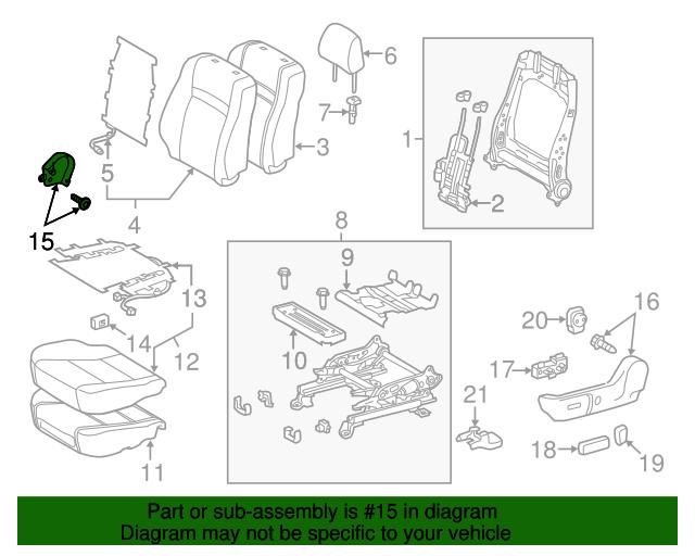 Genuine Hyundai 88260-33620-EGA Seat Cushion Cover Right Front