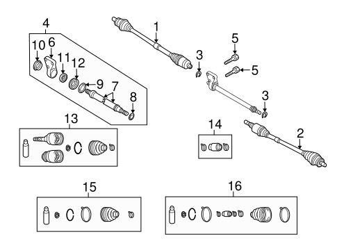 Mazda GDA3-22-620 CV Joint