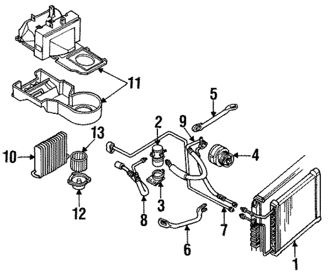 1991 1995 Gm Compressor Assembly 88964862