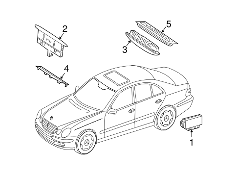 Electrical Components for 2006 Mercedes-Benz E 320 #2