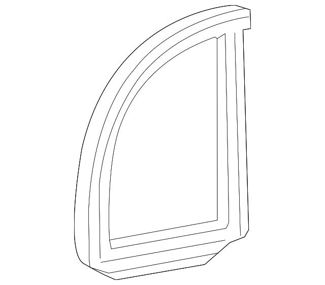 Boch Honda West >> Seal, R Rear Door Quarter - Honda (73441-SNE-A01)   Honda Car Parts Direct