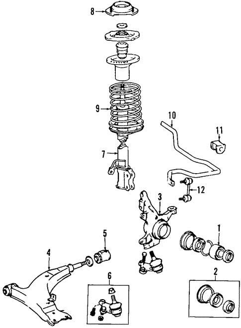 Genuine Oem Front Suspension Parts For 1990 Toyota Celica Gts