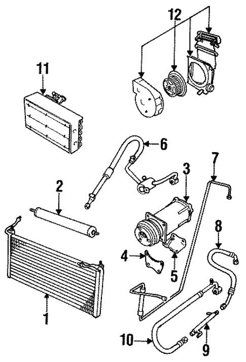 Condenser Compressor Lines For 1991 Jaguar Xjs