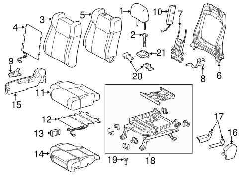 Passenger Seat Components for 2018 Toyota Tundra #0