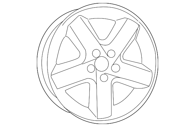 2007 2014 Mopar Wheel Alloy 5105691ab
