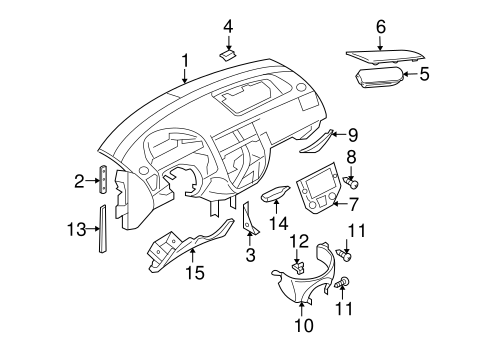 Oem 2007 Ford Focus Instrument Panel Parts Bluespringsfordparts. Bodyinstrument Panel For 2007 Ford Focus 1. Ford. 2007 Ford Focus Fuel System Diagram At Scoala.co