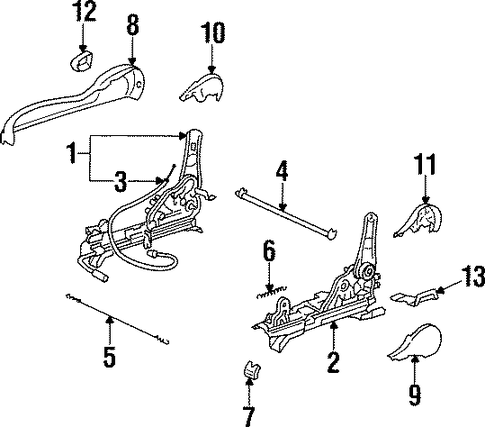 BODY/TRACKS & COMPONENTS for 1996 Toyota Supra #1