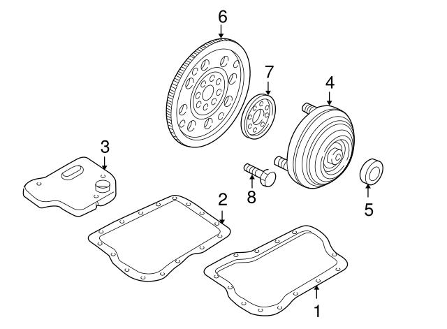 2000 2001 Mazda Mpv Converter Seal Fu01 19 241a
