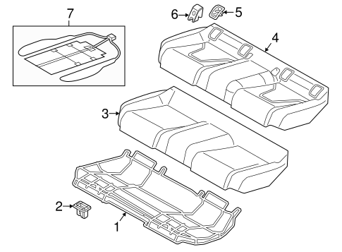 Rear Seat Components For 2015 Audi A6