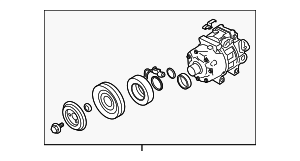 Compressor Assembly - Hyundai (97701-1U200)