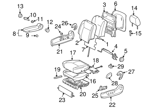 TOYOTA Genuine 71511-AE030 Seat Cushion Pad