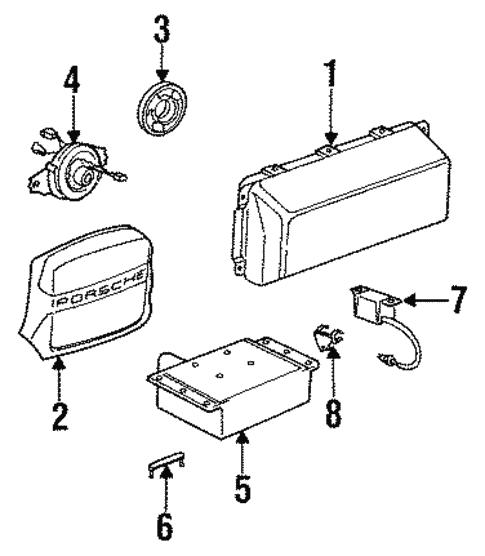 Air Bag Components For 1994 Porsche 968