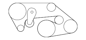 Serpentine Belt - Nissan (11720-JF00A)