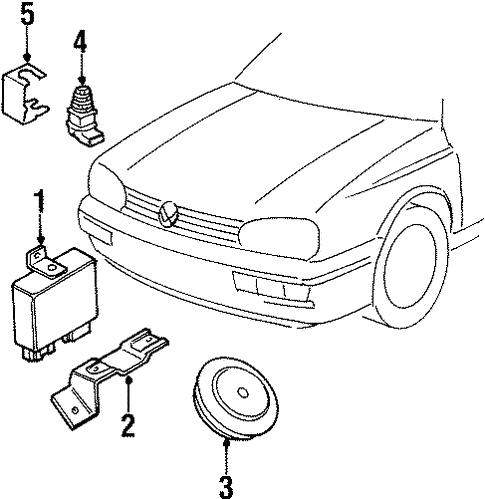 Oem Vw Alarm System For 1993 Volkswagen Golf