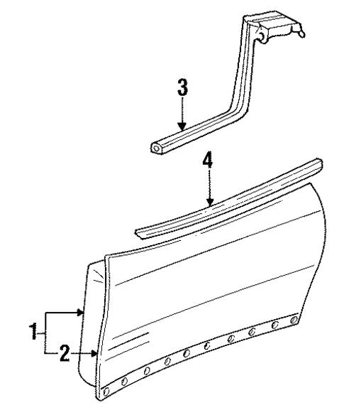 oem 2000 pontiac firebird door components parts. Black Bedroom Furniture Sets. Home Design Ideas
