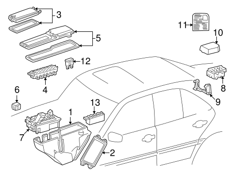 Electrical Components for 1998 Mercedes-Benz C 230 #0